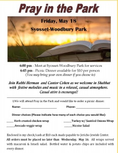 Pray in the Park - May 2018