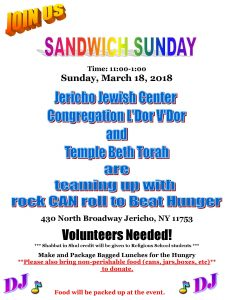 Sandwich_Sunday_flyer_2018 - JOIN US - Religous School