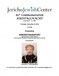 Kristallnacht flyer Nov 8 2018 - 2 - color