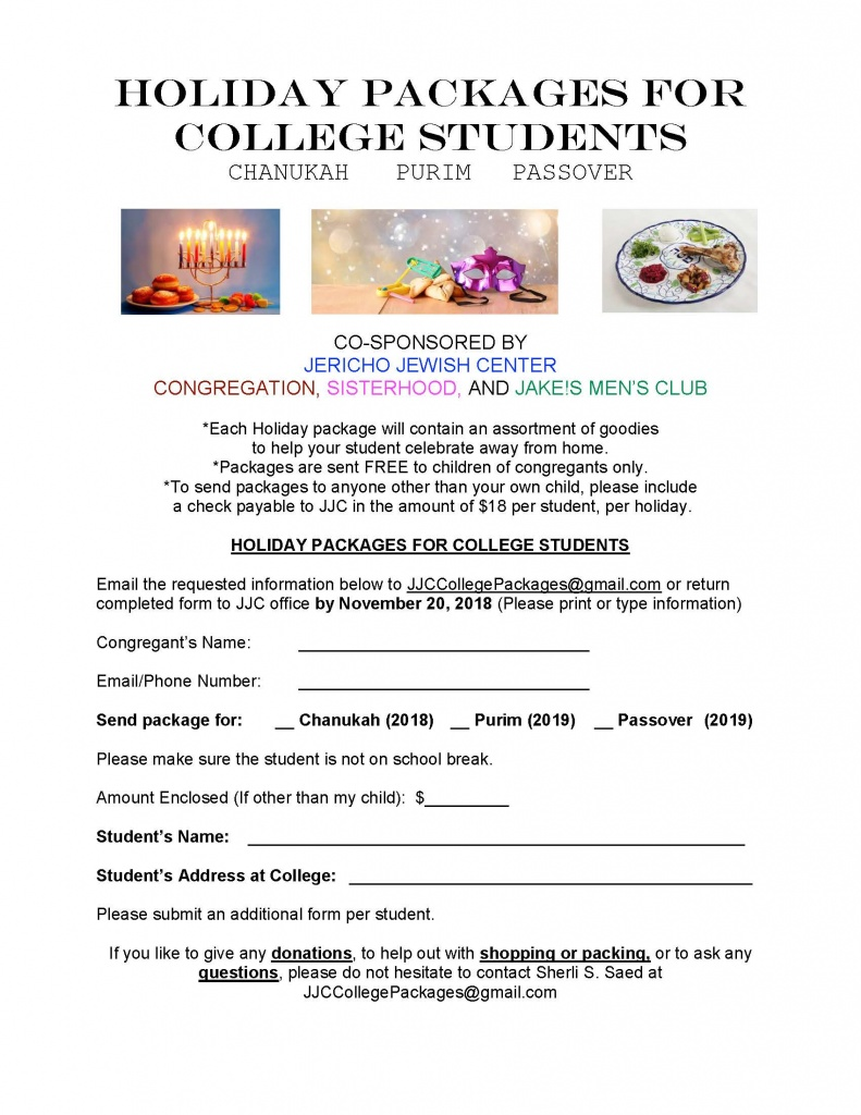 JJC College packages flyer 2018-2019