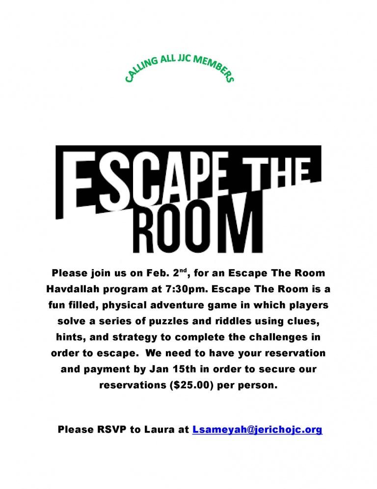 Escape The Room Feb 2019