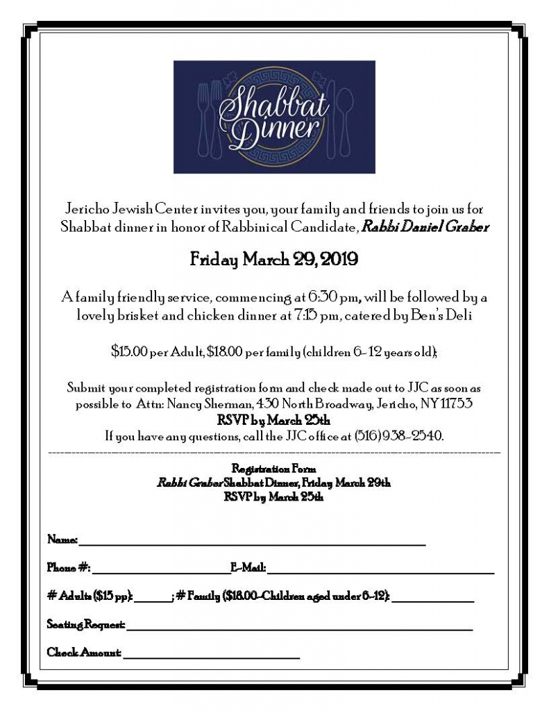 JJC Shabbat March 29th Dinner Flyer 3-18-19