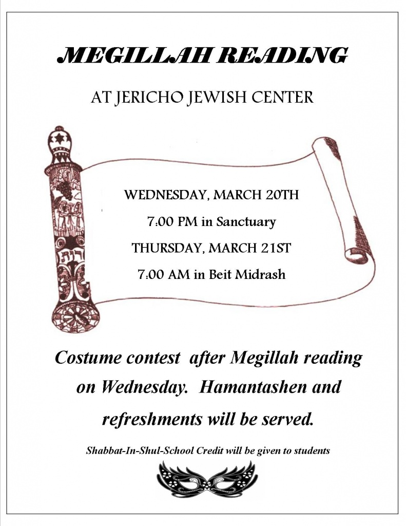 Megillah Reading flyer 2019