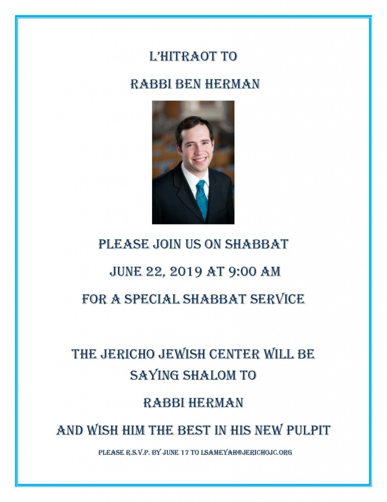 Farewell to Rabbi Herman