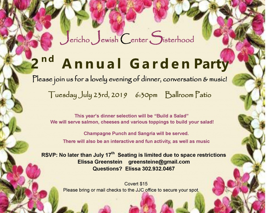2019 Garden Party Invitation