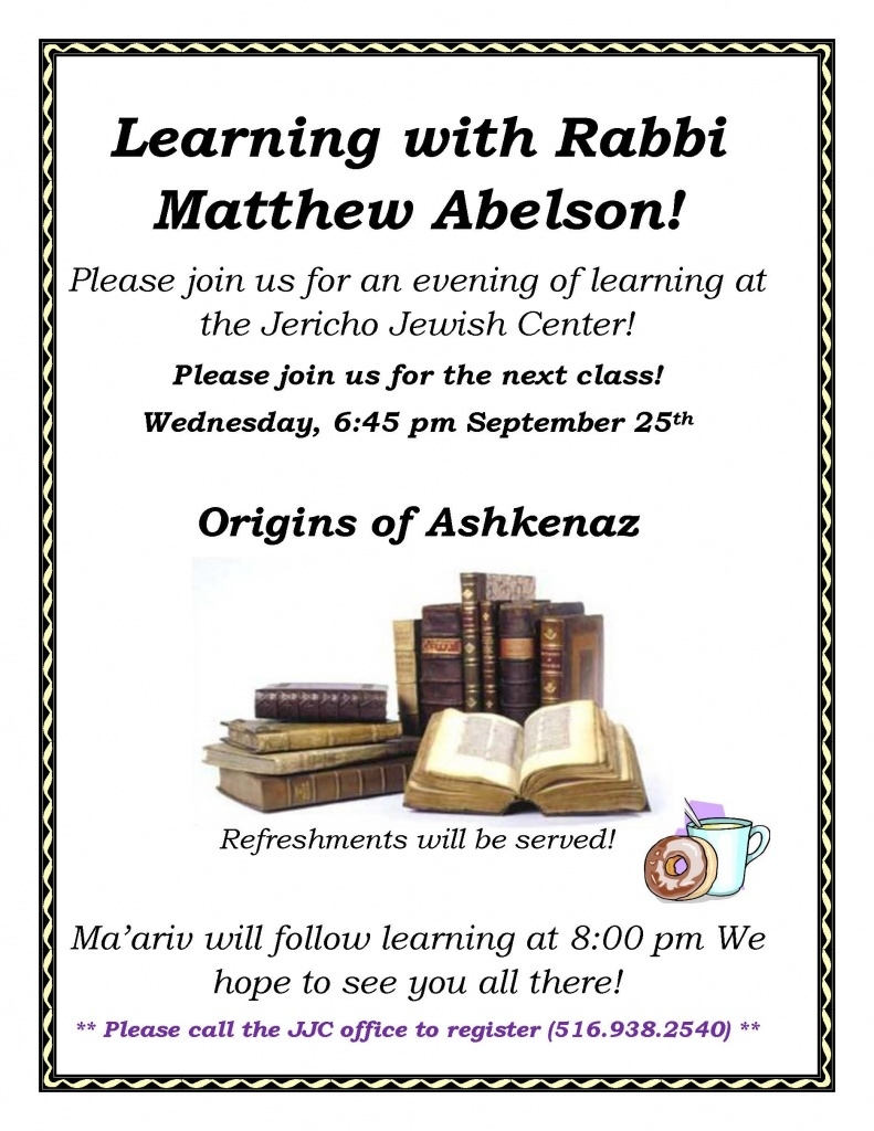 Learning with Rabbi Abelson 2