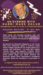 Evening with Rabbi Mark Golub - updated